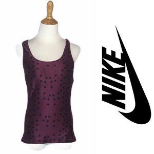 Nike Dry Fit Purple/Black PolkaDot Tank m